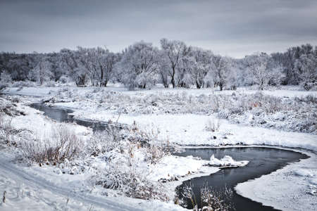 The freezing river  Stock Photo - 12115500
