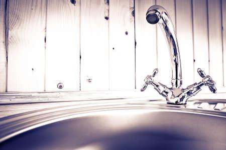 The kitchen water crane  Reklamní fotografie