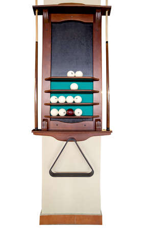 The isolated column with a set for billiards Stock Photo - 13600777