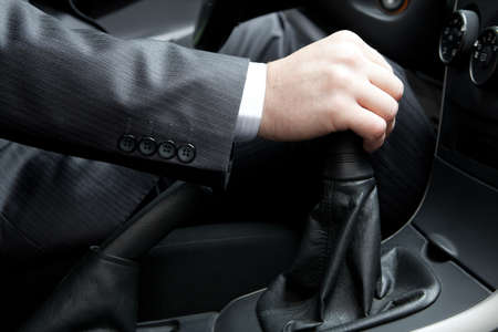 Hand of the driver of the car  photo