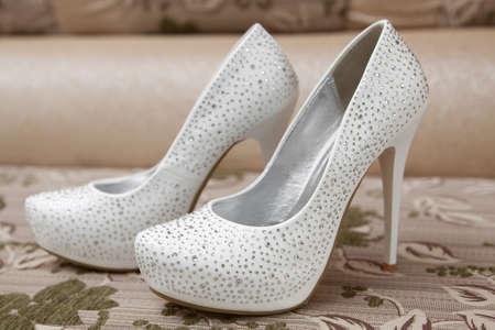 花嫁の白い靴 写真素材