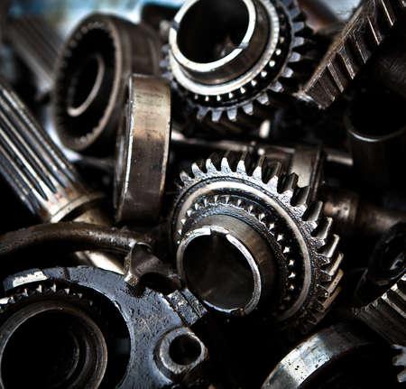 Old car metal gears photo
