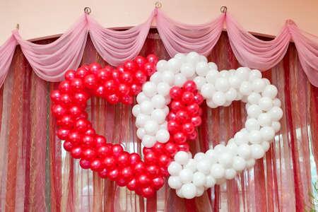 気球からの結婚式の装飾 写真素材