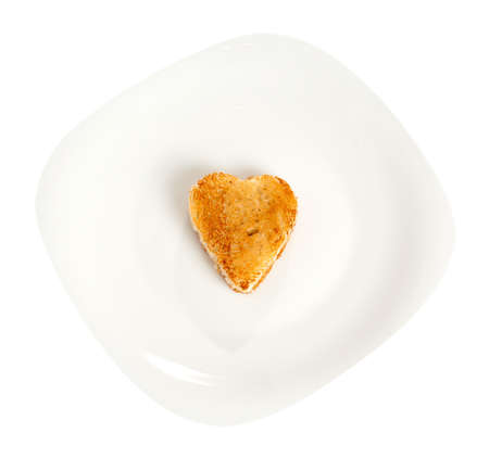 Toasted bread in a heart shape photo