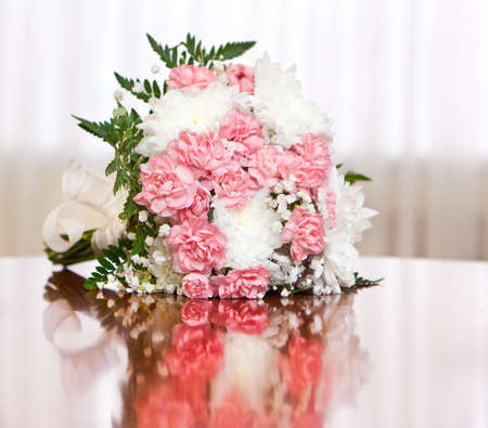 A beautiful bridal bouquet at a wedding party Stock Photo - 18370885