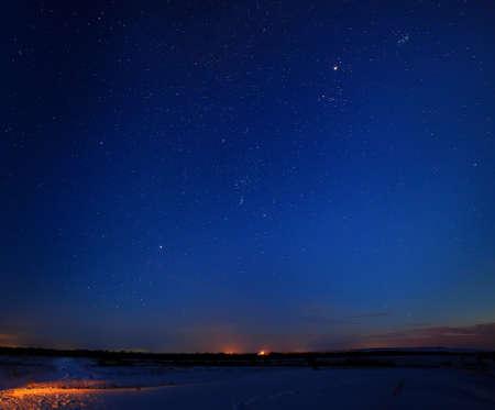 夜空の星 写真素材