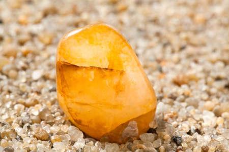 Amber on sand