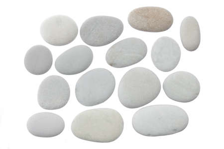 Set of stones of a round form are isolated on a white background 免版税图像