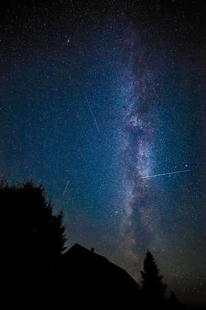 milkyway: Milky Way in the night sky  Stock Photo