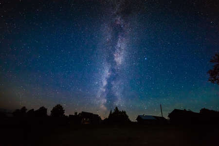 Milky Way in the night sky  photo