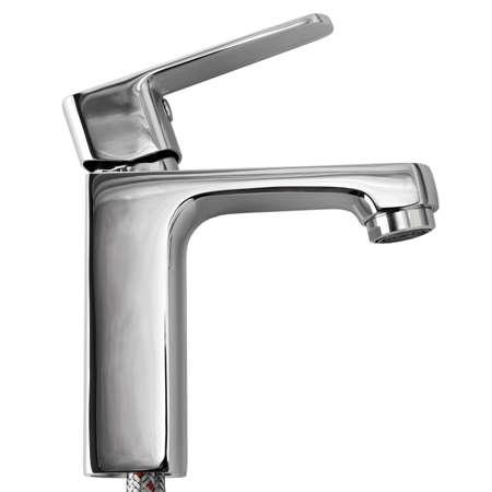 agua grifo: La grúa de agua de la cocina se encuentra aislado en un fondo blanco