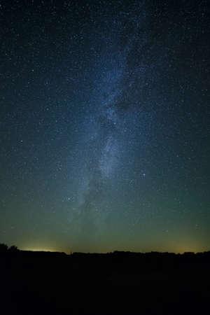 夜背景の星空。