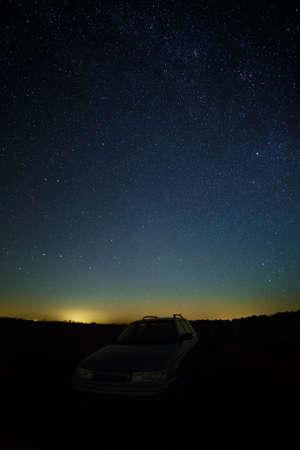 星空夜空の背景。