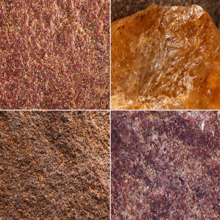 mined: The texture of the stone surface minerals mined in Russia Stock Photo