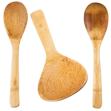 wooden spoon: Wooden spoon for the kitchen. Isolated. Stock Photo