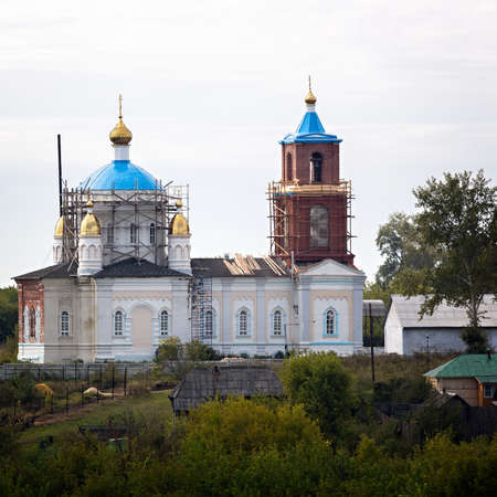restoration: Restoration of old Orthodox churches in Russia.