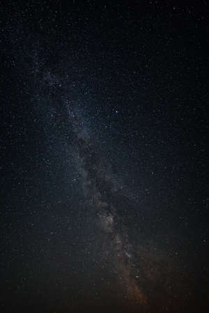 brightest: Milky Way Galaxy in the background of the brightest stars of the night sky. Stock Photo