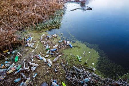 household waste: Pollution reservoir household waste.