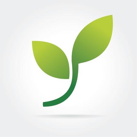 Abstracte eco-concept op wit wordt geïsoleerd Vector Illustratie