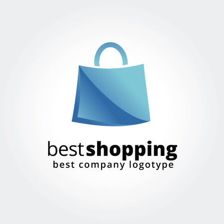 Abstract shopping logo icon concept isolated on white background for business design. Key ideas is shopping, sales, bag, pack, design. Concept for corporate identity and branding.  Vector