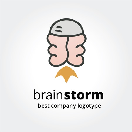Abstract brain logo icon concept isolated on white background for business design. Key ideas is business, abstract, communication, creative, fly, design. Concept for corporate identity and branding.  Vector
