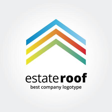 estates: Resumen logotipo de la casa icono concepto aislado en el fondo blanco para el dise�o de negocios. Ideas clave es negocio, finca, casas, alquiler, emblema, dise�o. Concepto de la identidad corporativa y de marca.