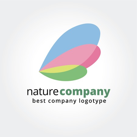 Abstract nature logo icon concept isolated on white background for business design. Key ideas is business, abstract, spa, butterfly, nature, design. Concept for corporate identity and branding.  Vector