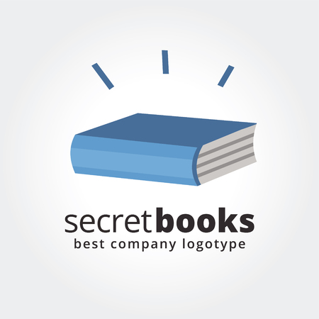Abstract book logo icon concept isolated on white background for business design. Key ideas is business, education, books, school, paper, design. Concept for corporate identity and branding.  Vector