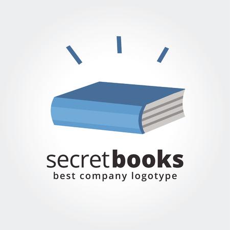 book logo: Extracto del libro logo icono concepto aislado en el fondo blanco para el dise�o de negocios. Ideas clave es negocios, educaci�n, libros, escuela, papel, dise�o. Concepto para la identidad corporativa y la marca.
