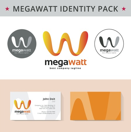 Abstract letter W identity pack vector concept. Vizit cards, and other id blanks. Good for company branding set.