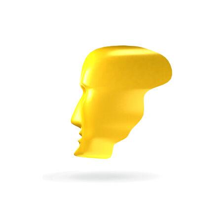 Abstract 3d Kopf Wie Gesichtsmaske Icon Konzept. Ähnlich Totami ...