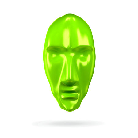 Abstract 3d head like face mask icon concept. Similar to totami. photo