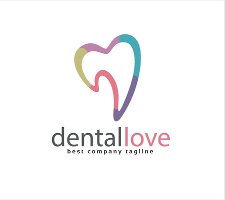 Abstract vector dental tooth icon concept. Vector