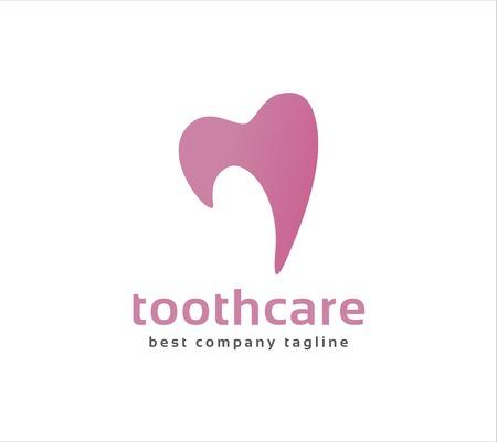 Abstract vector dental tooth icon concept. Vector
