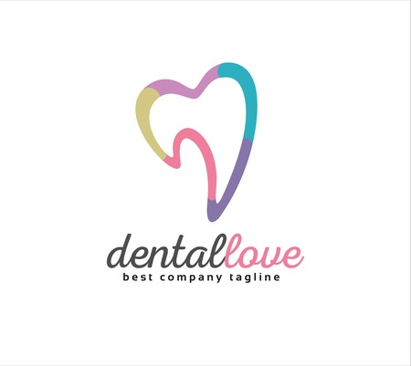 Abstract dental vector logo icon concept. Logotype template for branding and corporate design Ilustrace