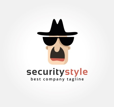 Abstract spy face vector icon concept. template for branding and corporate design photo