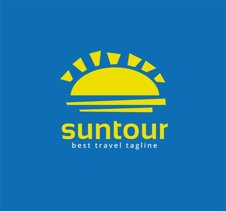 Abstract travel sun  icon concept.  template for branding and corporate design photo