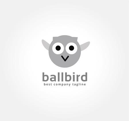 naming: Abstract vector cartoon owl icon concept.