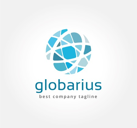 worldwide: Abstract network vector logo icon concept. Logotype template for branding and corporate design