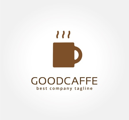 Abstract vector coffe cup logo icon concept. Logotype template for branding and corporate design Vector