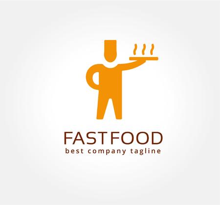 pizzeria label: Resumen de entrega de pizza logo vector icono de concepto. Plantilla de logotipo para la marca y el dise�o corporativo