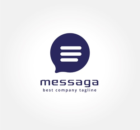 Abstract vector messenger logo icon concept. Logotype template for branding and corporate design Vector