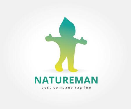 Resumen carácter naturaleza logo icono concepto. Plantilla de logotipo para la marca y el diseño corporativo Foto de archivo - 33662466