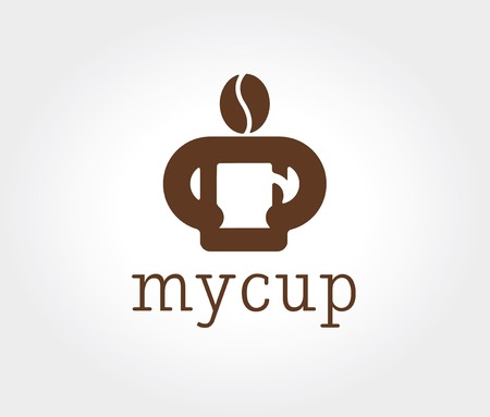 Key ideas is business, coffe, break, pause, food and restaurant. Concept for corporate identity and branding Vector