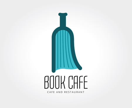 book logo: Resumen libro boatle plantilla de logotipo para la marca y el dise�o