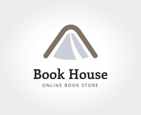 Résumé livre logo maison modèle pour le branding et design Banque d'images - 35982297