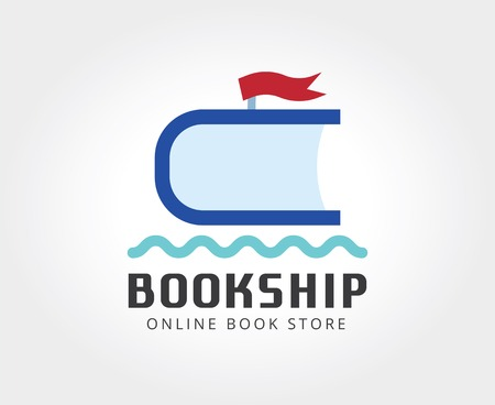 naming: Abstract ship book logo template for branding and design Illustration