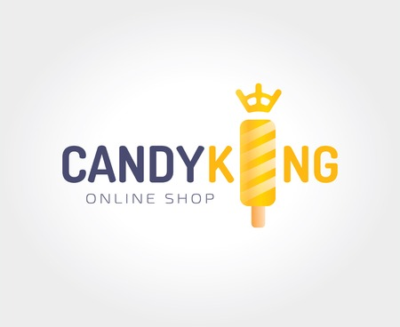 naming: Abstract candy king logo template for branding and design Illustration