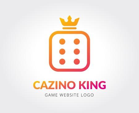ruleta de casino: Cubo abstracto casino plantilla vector de la insignia para la marca y el dise�o