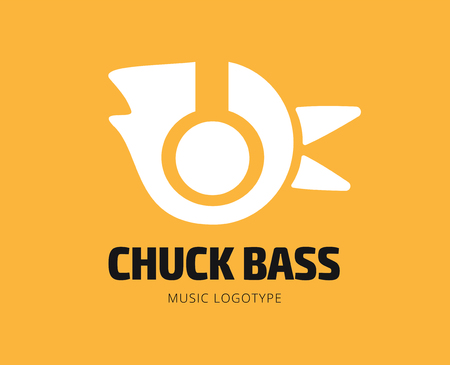 chuck: Abstract music chuck vector icon template for branding and design Illustration